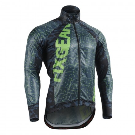 """FLEXFIX BLUE CAMO"" - FIXGEAR Flexible Cycling Windbreaker"
