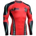 """DEAD RED"" - FIXGEAR Second Skin Technical Compression Shirt."