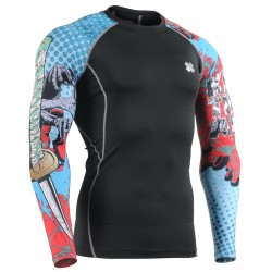 """KILL EM ALL"" Sleeves  - FIXGEAR Second Skin Technical Compression Shirt ."
