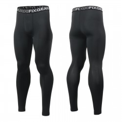 """BLACK FIX A"" Long - FIXGEAR Second Skin Technical Compression Tights"