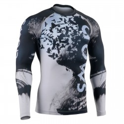 """RAVIN DARKNESS"" - FIXGEAR Second Skin Technical Compression Shirt."