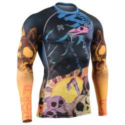 """GRAVEYARD SHIFT"" - FIXGEAR Second Skin Technical Compression Shirt ."