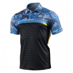"""DIGITAL BLUE"" - FIXGEAR Short Sleeve 3 Button Casual & Technical Polo"