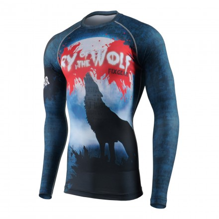 """""""WOLF CRY"""" - FIXGEAR Second Skin Technical Compression Shirt ."""