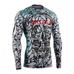 """DROPS OF DEATH"" - FIXGEAR Second Skin Technical Compression Shirt ."