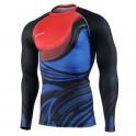 """RED & BLUE FIX"" - FIXGEAR Second Skin Technical Compression Shirt ."