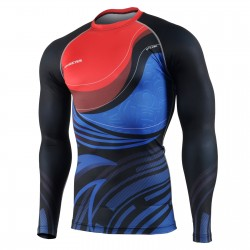 """RED & BLUE FIX"" - FIXGEAR Second Skin Technical Compression Shirt ."