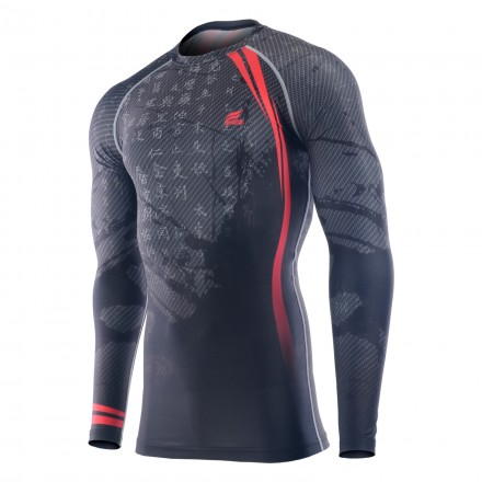 """RED ASIA"" - FIXGEAR Second Skin Technical Compression Shirt."