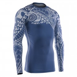 """TATTOO BLUE"" - FIXGEAR Second Skin Technical Compression Shirt."