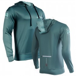 DELUXE Technical Hoodie - HERBALIFE & HERBALIFE 24 - GREEN-TEAL