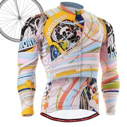 """Hallucinating Skull"" - FIXGEAR Long Sleeve Cycling Jersey."