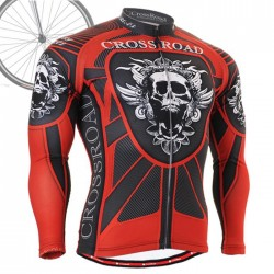 """Red Armor"" - FIXGEAR Long Sleeve Cycling Jersey."