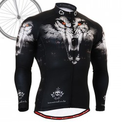 """Wolf Team"" - FIXGEAR Long Sleeve Cycling Jersey."