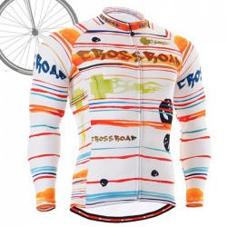 """Ribbons & Flames"" - FIXGEAR Long Sleeve Cycling Jersey."