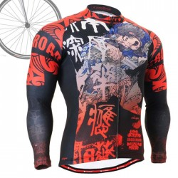 """Samurai"" - FIXGEAR Long Sleeve Cycling Jersey."