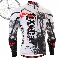 """Time Skull"" - FIXGEAR Long Sleeve Cycling Jersey."