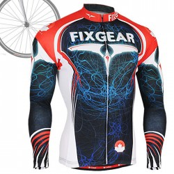 """Light Pilot"" - FIXGEAR Long Sleeve Cycling Jersey."
