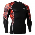 """""""Red Geometry"""" - FIXGEAR Second Skin Technical Compression Shirt ."""