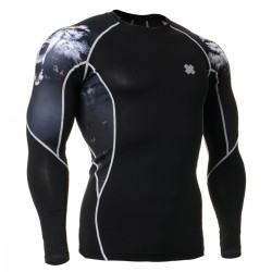 """""""Canis Lupus"""" - FIXGEAR Second Skin Technical Compression Shirt ."""