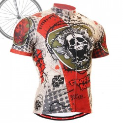 """Thorned Skull"" - FIXGEAR Short Sleeve Cycling Jersey."