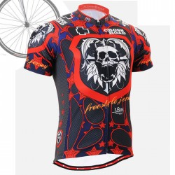 """Skull Star"" - FIXGEAR Short Sleeve Cycling Jersey."