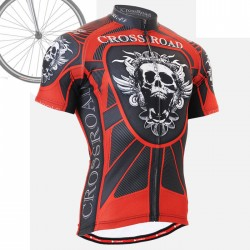 """Red Armor"" - FIXGEAR Short Sleeve Cycling Jersey."