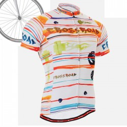 """Ribbons & Flames"" - FIXGEAR Short Sleeve Cycling Jersey."