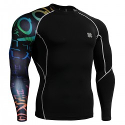 """Black Asia"" - FIXGEAR Second Skin Technical Compression Shirt ."