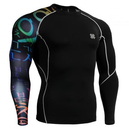 """Black Asia"" - FIXGEAR Second Skin Technical Compression Shirt ."