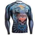 """""""Laughing Buddha"""" FULL - FIXGEAR Second Skin Technical Compression Shirt - Special MMA Design."""