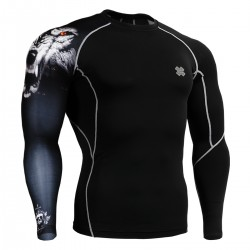 """Uni Canis Lupus"" - FIXGEAR Second Skin Technical Compression Shirt ."