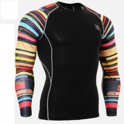 """""""Duo Black Rings"""" - FIXGEAR Second Skin Technical Compression Shirt ."""