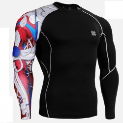 """""""Red Insides"""" - FIXGEAR Second Skin Technical Compression Shirt - Red."""
