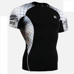 """The Net"" Short Sleeve - FIXGEAR Short Sleeve Second Skin Technical Compression Shirt."
