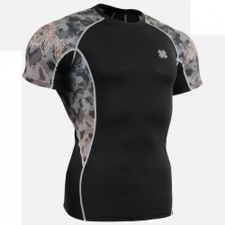 """Camouflage"" - FIXGEAR Short Sleeve Second Skin Technical Compression Shirt."