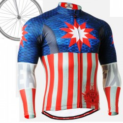 """Americanada"" - FIXGEAR Long Sleeve Cycling Jersey."