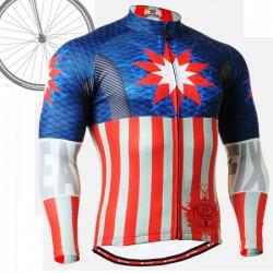 """""""Americanada"""" - Maillot Ciclismo Manga Larga FIXGEAR."""