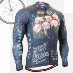 """CS1501"" - FIXGEAR Long Sleeve Cycling Jersey."