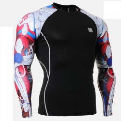 """""""Red Duo Insides"""" - FIXGEAR Second Skin Technical Compression Shirt."""