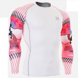 """""""Duo Space Invaders"""" - FIXGEAR Second Skin Technical Compression Shirt ."""