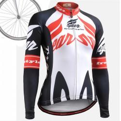 """Backdraft"" WOMAN - FIXGEAR Long Sleeve Cycling Jersey."