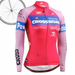 """CROSSPINK"" WOMAN - FIXGEAR Long Sleeve Cycling Jersey."