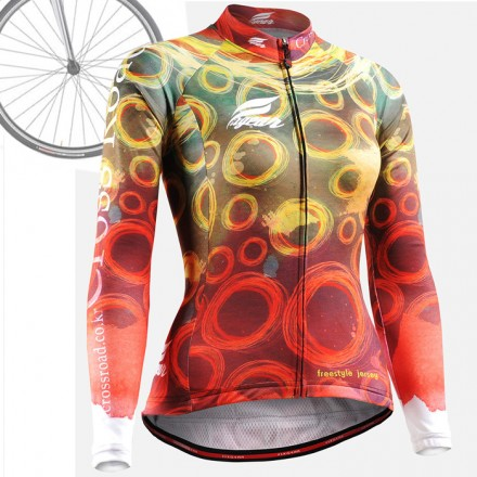 """CSW401"" WOMAN - FIXGEAR Long Sleeve Cycling Jersey."