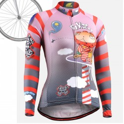 """CSW1601"" WOMAN - FIXGEAR Long Sleeve Cycling Jersey."