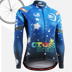 """CSW2301"" WOMAN - FIXGEAR Long Sleeve Cycling Jersey."