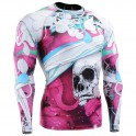 """""""The Skeleton"""" Full Pink - FIXGEAR Second Skin Technical Compression Shirt."""