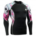 """""""The Skeleton"""" Pink - FIXGEAR Second Skin Technical Compression Shirt."""