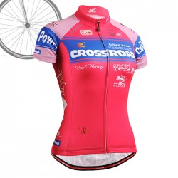 """CROSSPINK"" WOMAN - FIXGEAR Short Sleeve Cycling Jersey."