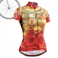 """""""CSW402"""" WOMAN - FIXGEAR Long Sleeve Cycling Jersey."""