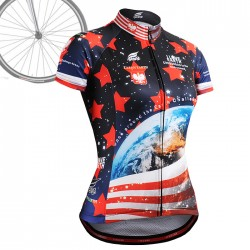 """CSW1002"" WOMAN - FIXGEAR Short Sleeve Cycling Jersey."